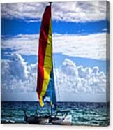 Catamaran At The Beach Canvas Print
