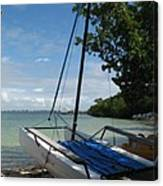 Catamaran On The Beach Canvas Print