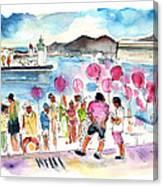 Catamaran Party In Cartagena Canvas Print