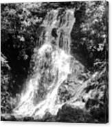 Cataract Falls Smoky Mountains Bw Canvas Print