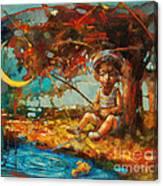 Catching A Goldfish II Canvas Print