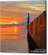 Catching A Navarre Sunset Canvas Print