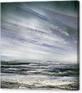 Catclough Reservoir Winter Rythms And Textures Canvas Print