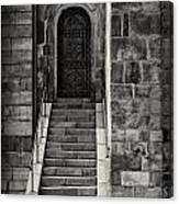 Cathedral Door And Steps Canvas Print