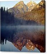 4m9304-cathedral Group Reflection, Tetons, Wy Canvas Print