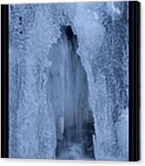 Cathedral Ice Waterfall Canvas Print