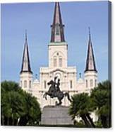 Cathedral In Jackson Square Canvas Print