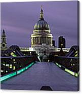 Cathedral Lit Up At Night, St. Pauls Canvas Print
