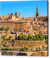 Cathedral, Medieval City, Toledo, Spain Canvas Print