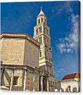 Cathedral Of Split Diocletian Palace Canvas Print