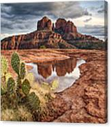 Cathedral Rock After The Storm Canvas Print