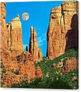 Cathedral Rock Moon Canvas Print