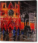 Cathedral Saint Jean-baptiste In Lyon Canvas Print