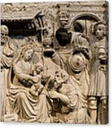 Cathedral Wall Nativity Sculpture Canvas Print