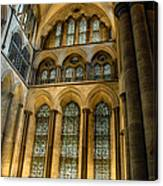 Cathedral Walls And Windows Canvas Print