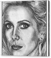 Catherine Deneuve In 1976 Canvas Print