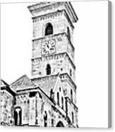 Catholic Cathedral In Alba Iulia Canvas Print