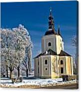 Catholic Church In Town Of Krizevci Canvas Print