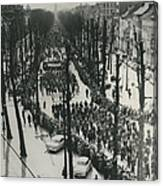 Catholics March In Antwerp.. Parade Ends Two Weeks Easter Canvas Print