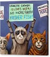 Cats On Strike Edit 2 Canvas Print