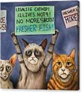 Cats On Strike Edit 3 Canvas Print