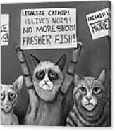 Cats On Strike Edit 4 Canvas Print