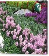 Catterpillar Large Flower Garden Vegas Canvas Print