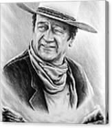 Cattle Drive Bw Version Canvas Print