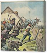 Caucasus Rebels Fight  Government Troops Canvas Print