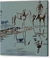 Cautious Creek Crossing Canvas Print