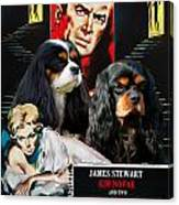 Cavalier King Charles Spaniel Art - Vertigo Movie Poster Canvas Print