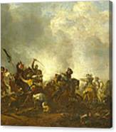 Cavalry Attacking Infantry Canvas Print