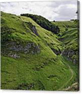 Cave Dale From Peveril Castle Canvas Print