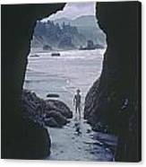 Mp-335-cave In Battle Rock Port Orford Canvas Print