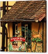 Caveau St Pierre Sign In Colmar France Canvas Print