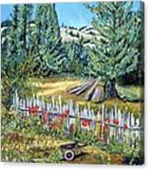 Cazadero Farm And Flowers Canvas Print