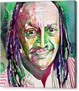 Cecil Taylor - Watercolor Portrait Canvas Print