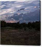 Cedar Park Texas Cedar And Clouds Sunset Canvas Print