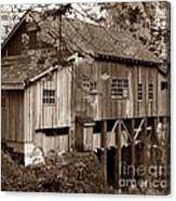 Cedar Creek Grist Mill Sepia Canvas Print