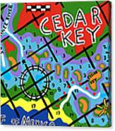Cedar Key Chart Canvas Print