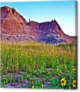 Cedar Pass At Dusk In Badlands National Park-south Dakota Canvas Print