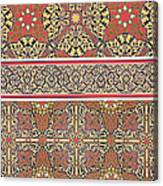 Ceiling Arabesques From The Mosque Of El-bordeyny Canvas Print