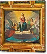 Ceiling Fresco At The Basilica Of St. Bartholomew On The Island Canvas Print