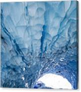 Jagged Ceiling Of Paradise Ice Cave Canvas Print