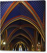 Ceiling Of The Sainte-chapelle  Paris Canvas Print