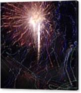 Celebration Fireworks Grand Lake Co 2007 Canvas Print