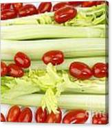 Celery And Tomatoes Canvas Print