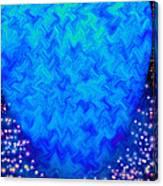 Celestial Blue Heart Canvas Print