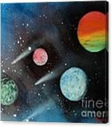 Celestial Planets Canvas Print
