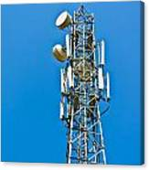 Cell Tower And Radio Antennae Canvas Print